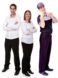 Gilles, Daniel et Julie Taschereau