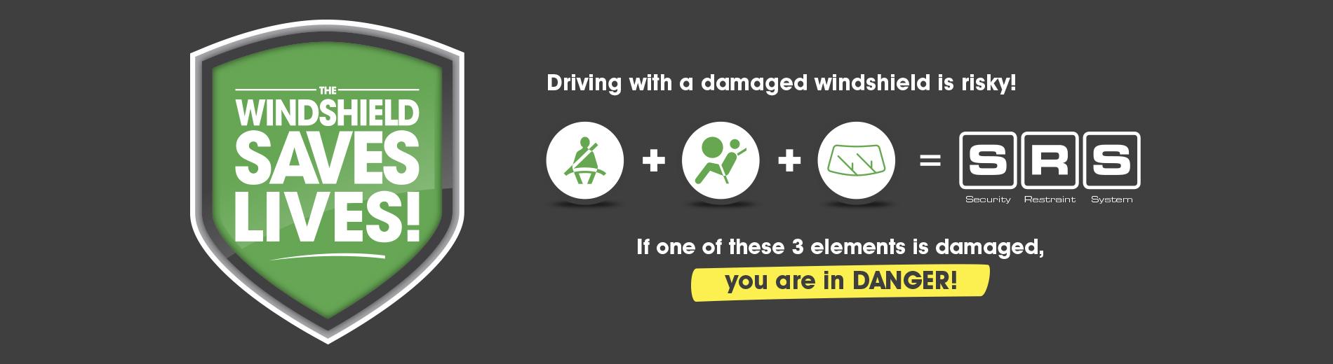 Windshield save lives
